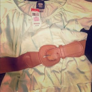 Adorable girl's blouse and belt!